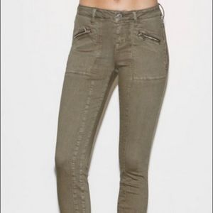 Kendall & Kylie cropped green military pants